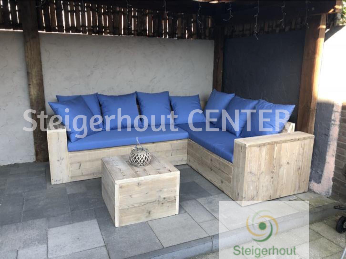 Luxe Steigerhouten Loungeset.Luxe Steigerhouten Hoekbank Antwerpen