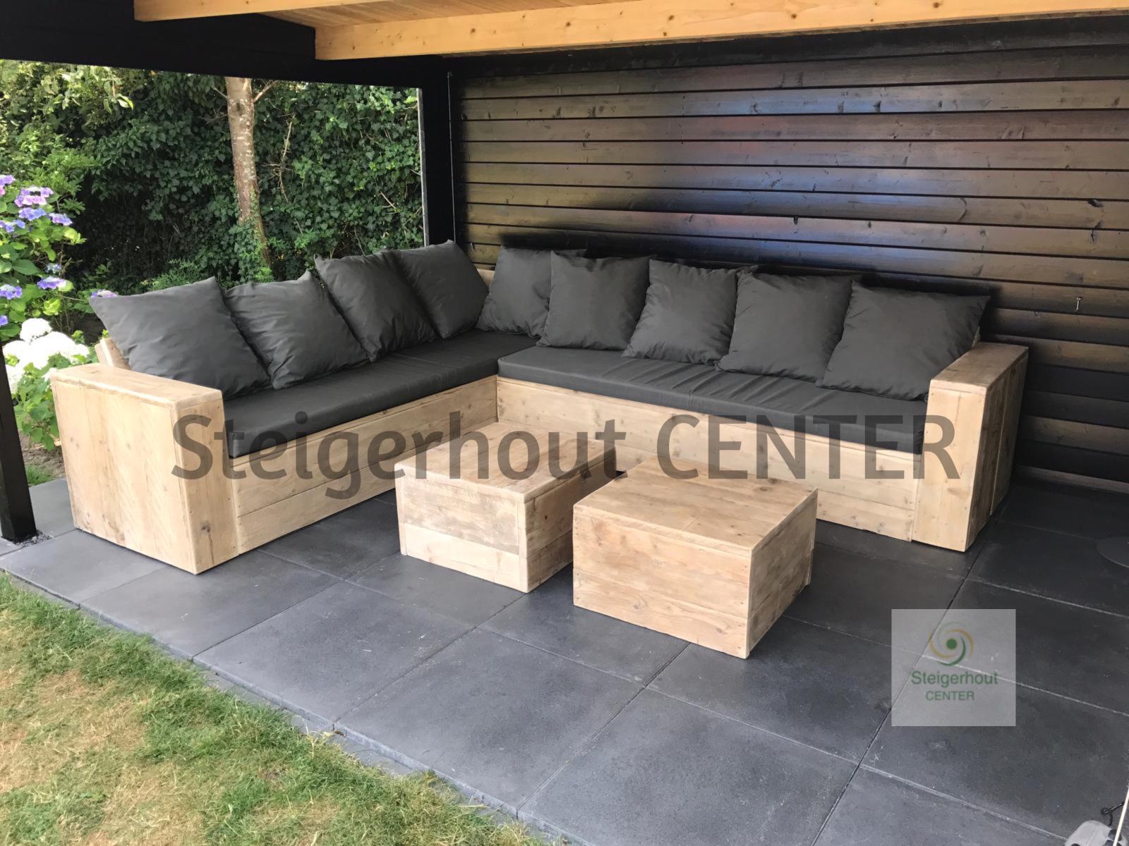 Luxe Steigerhouten Loungeset.Steigerhouten Loungeset Brussel